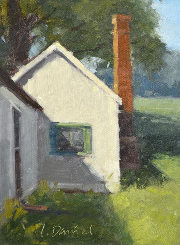 """Back Door Shadows - Georgia Coast"" original fine art by Laurel Daniel"