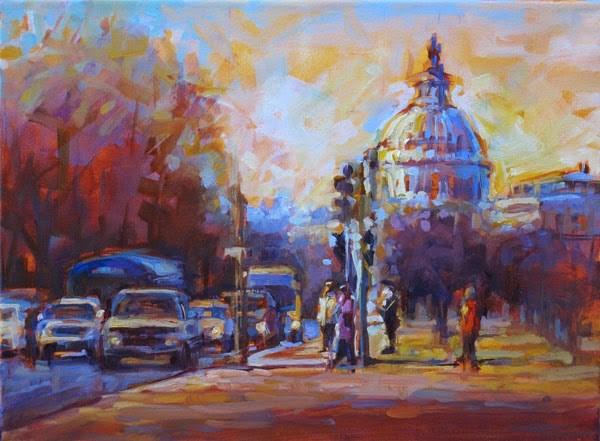 """""""Capitol Hill"""" original fine art by Karen Bruson"""