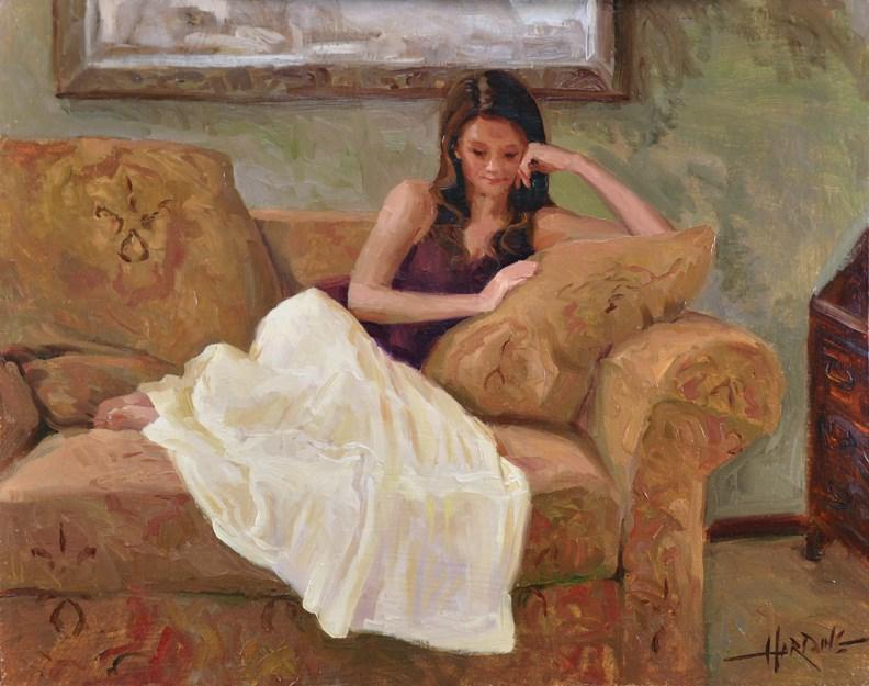 """""""White Skirt"""" original fine art by Scott Harding"""