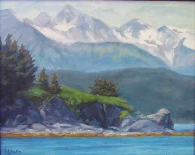 """Chilkat Mountain Range"" original fine art by Christine Lewis"