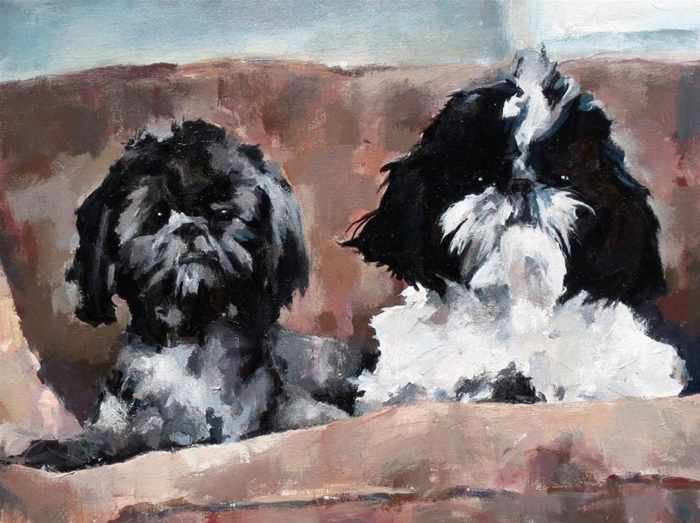 """Maxie and Mini Moo"" original fine art by Nava Judith"