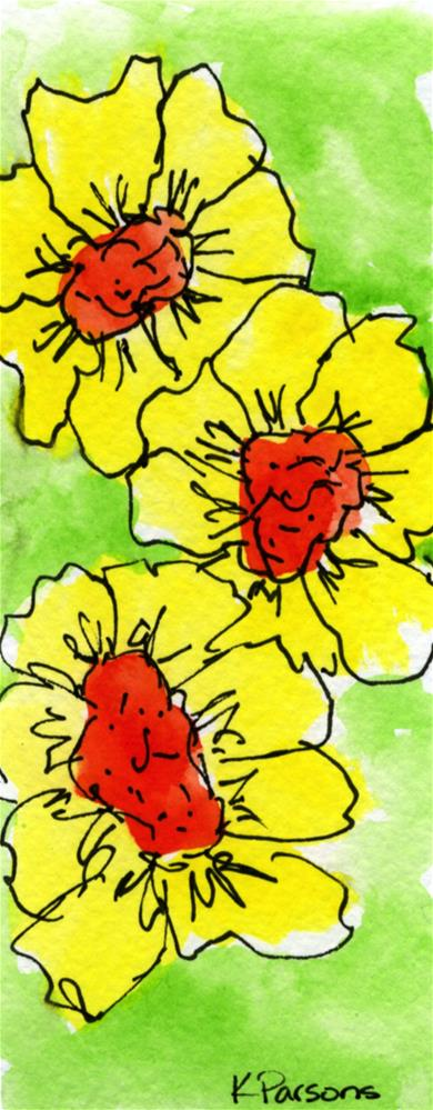 """Big Yellow Trio"" original fine art by Kali Parsons"
