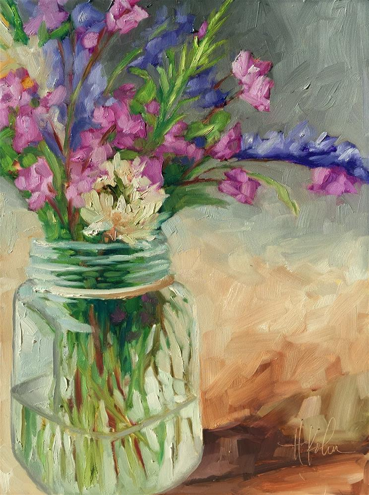 """Spring Blooms"" original fine art by Hallie Kohn"
