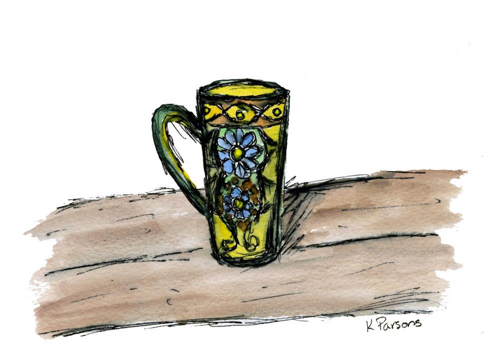 """Beach Mug"" original fine art by Kali Parsons"