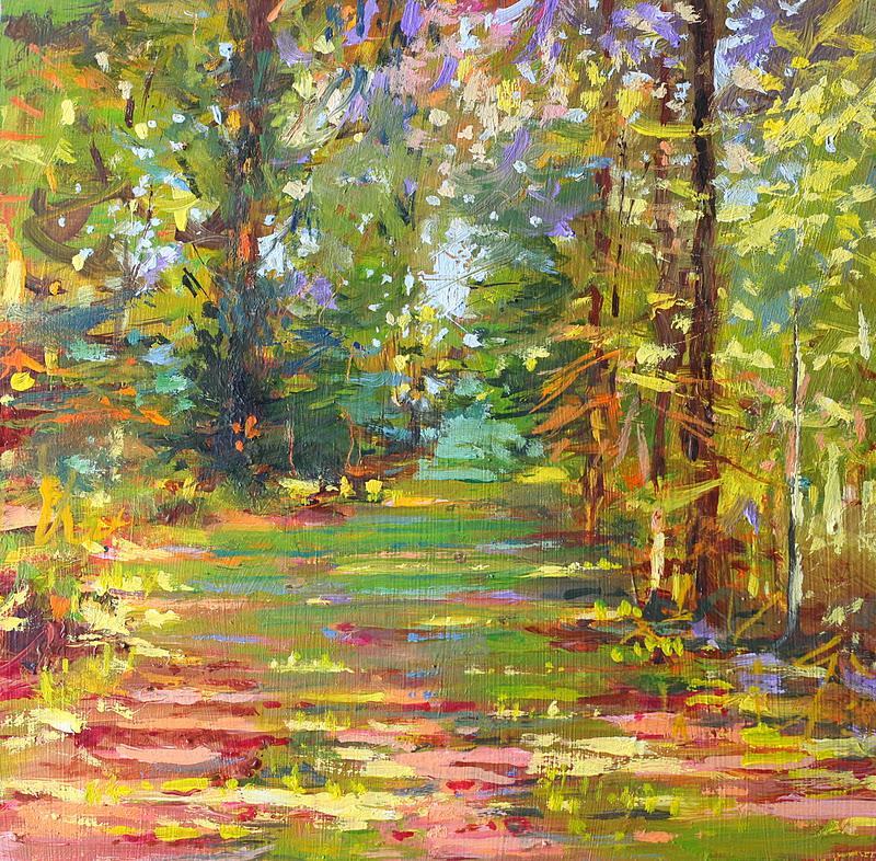 """""""Brittany Broad Walk"""" original fine art by Ken Devine"""