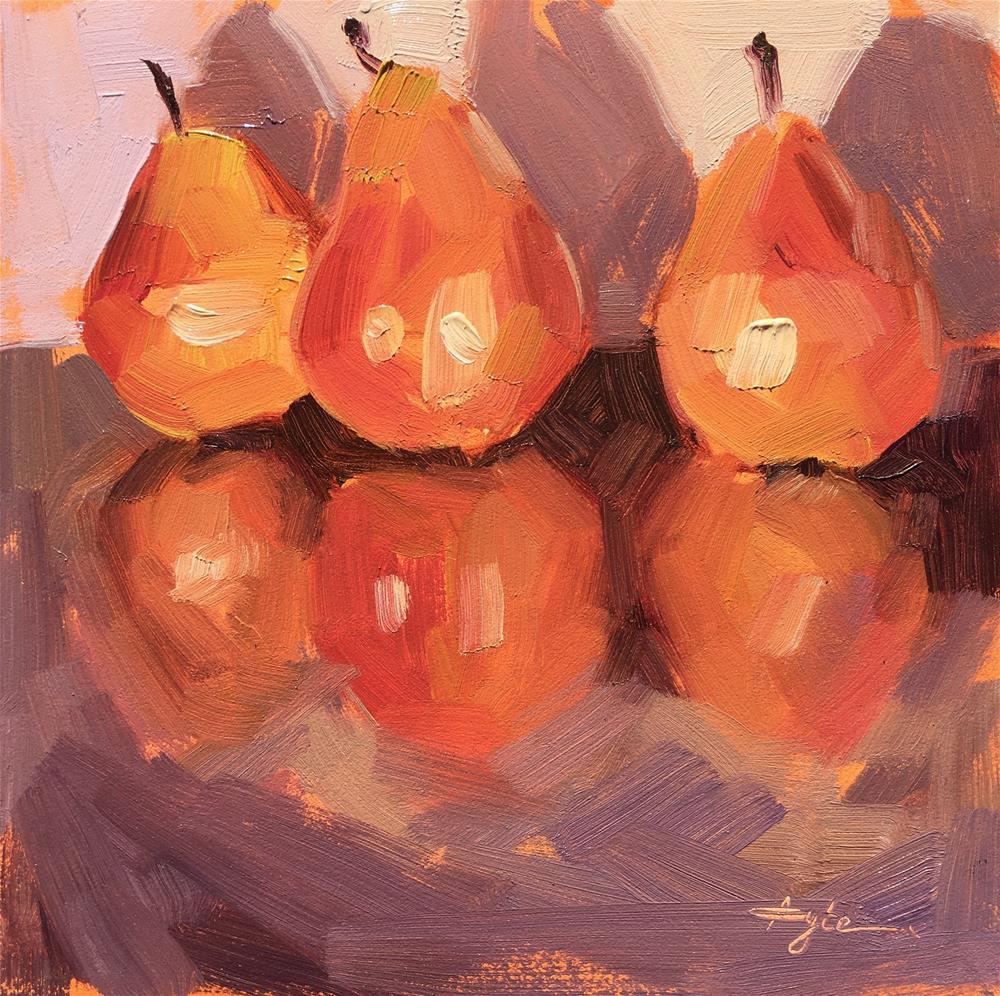 """Kelly's Pears"" original fine art by Katia Kyte"