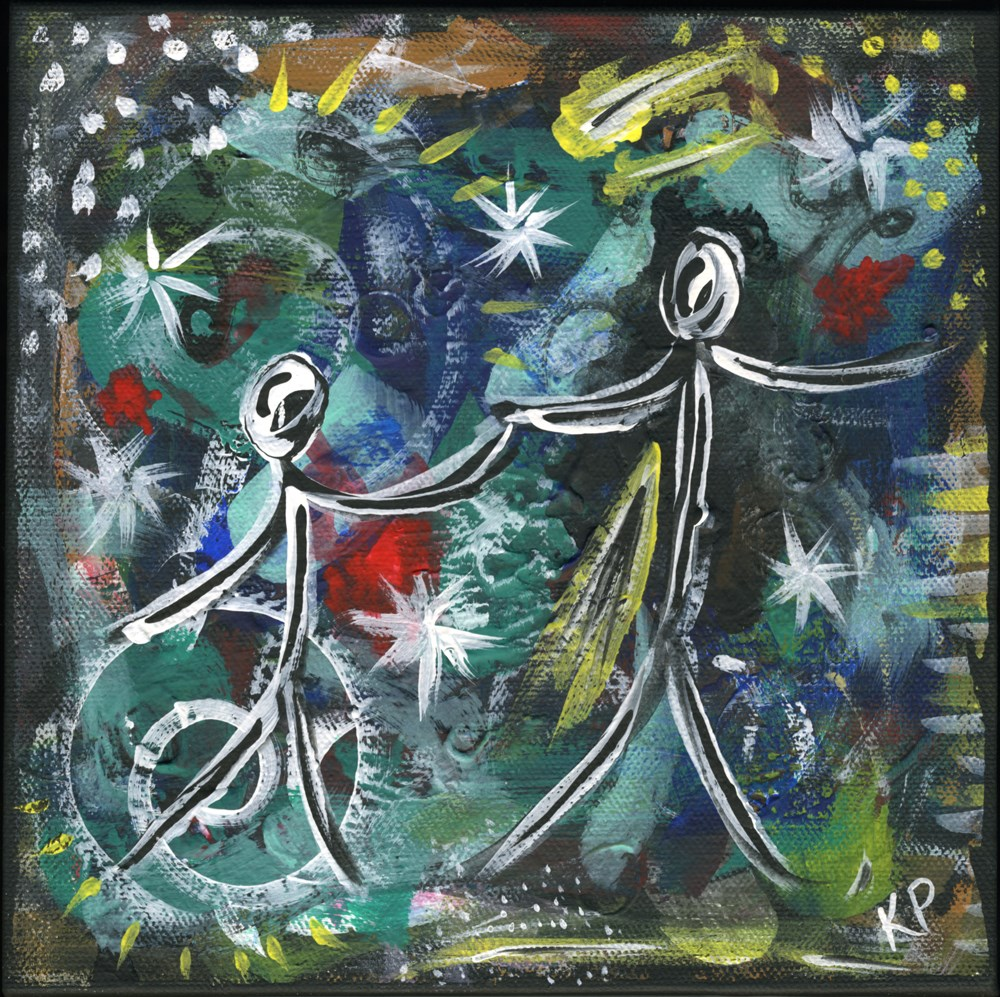 """Dancing with the Stars"" original fine art by Kali Parsons"