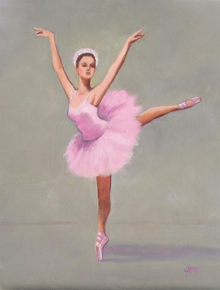 """Ballerina, 8x10 Figurative Oil Painting on Canvas Panel"" original fine art by Carmen Beecher"