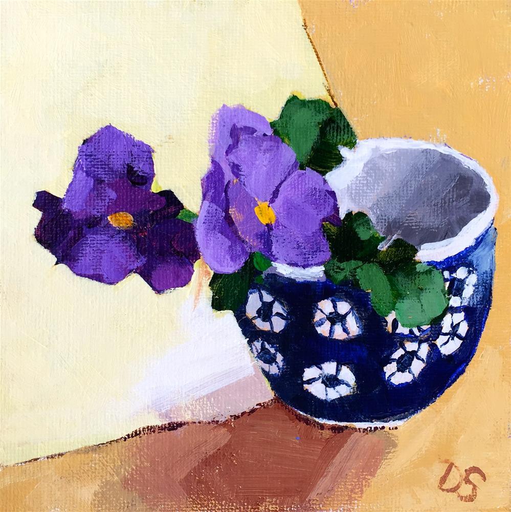 """Violas"" original fine art by Diana Stewart"