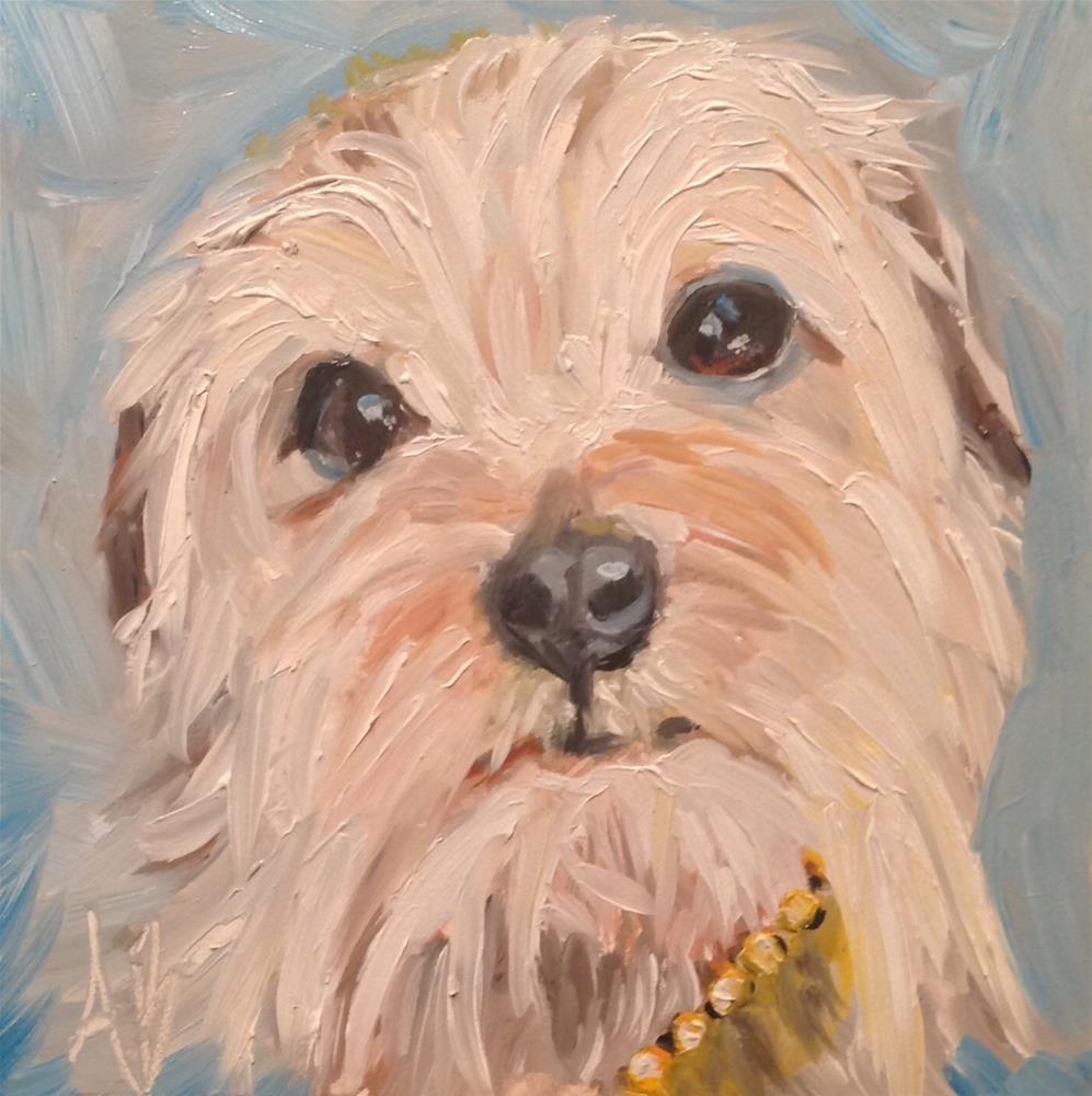 """Teddy"" original fine art by Annette Balesteri"