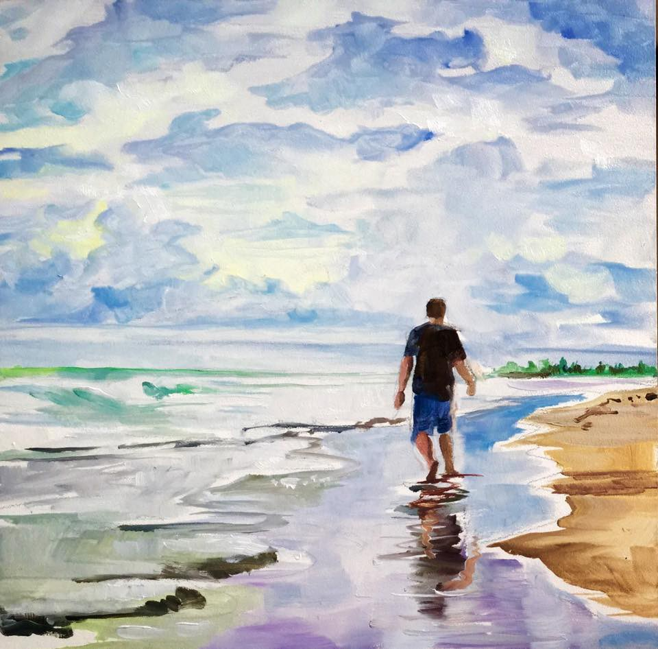 """Beachcomber"" original fine art by Lauren Kuhn"