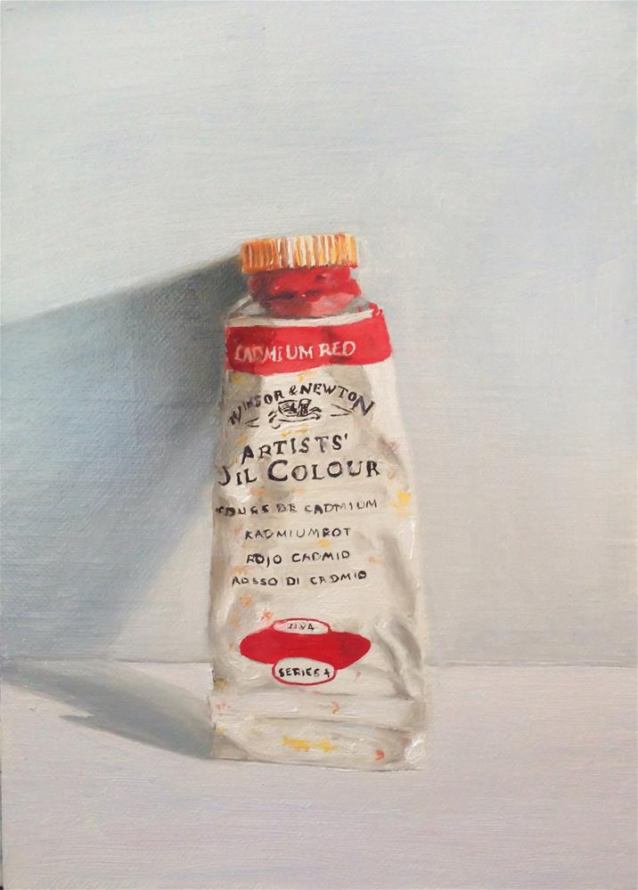 """""""Cadmium Red"""" original fine art by James Coates"""