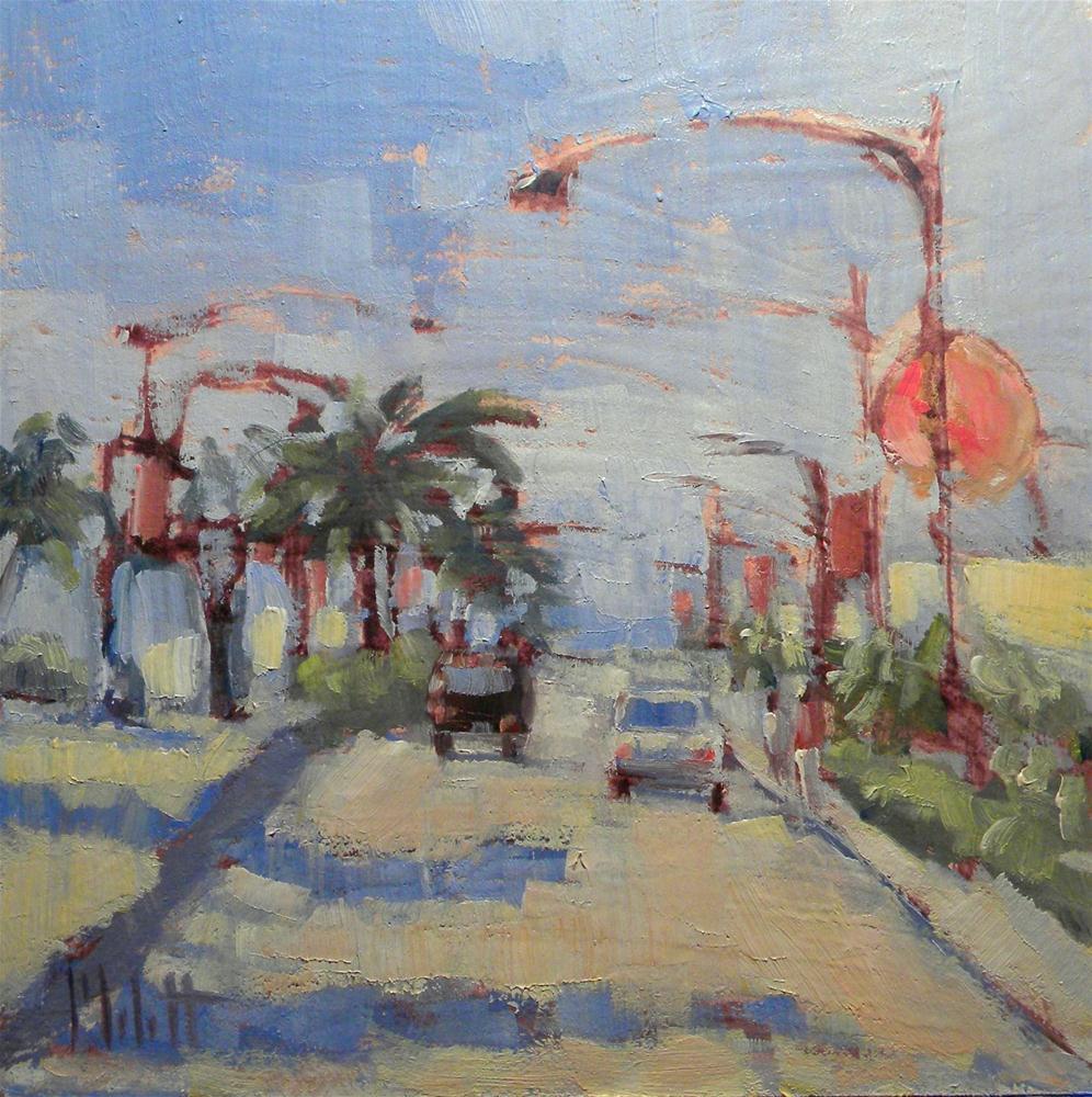 """Donut Shop Near the Beach"" original fine art by Heidi Malott"