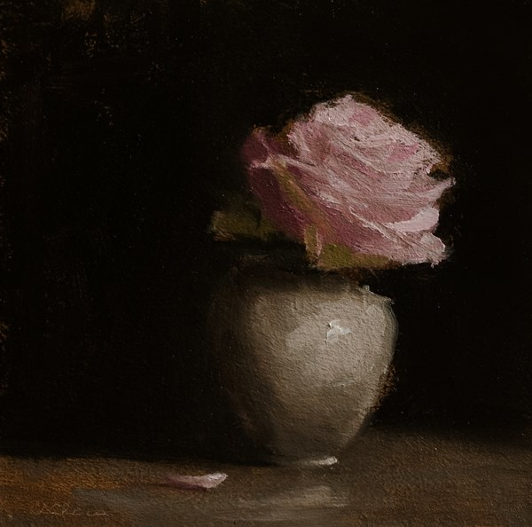 """Pink Rose"" original fine art by Neil Carroll"