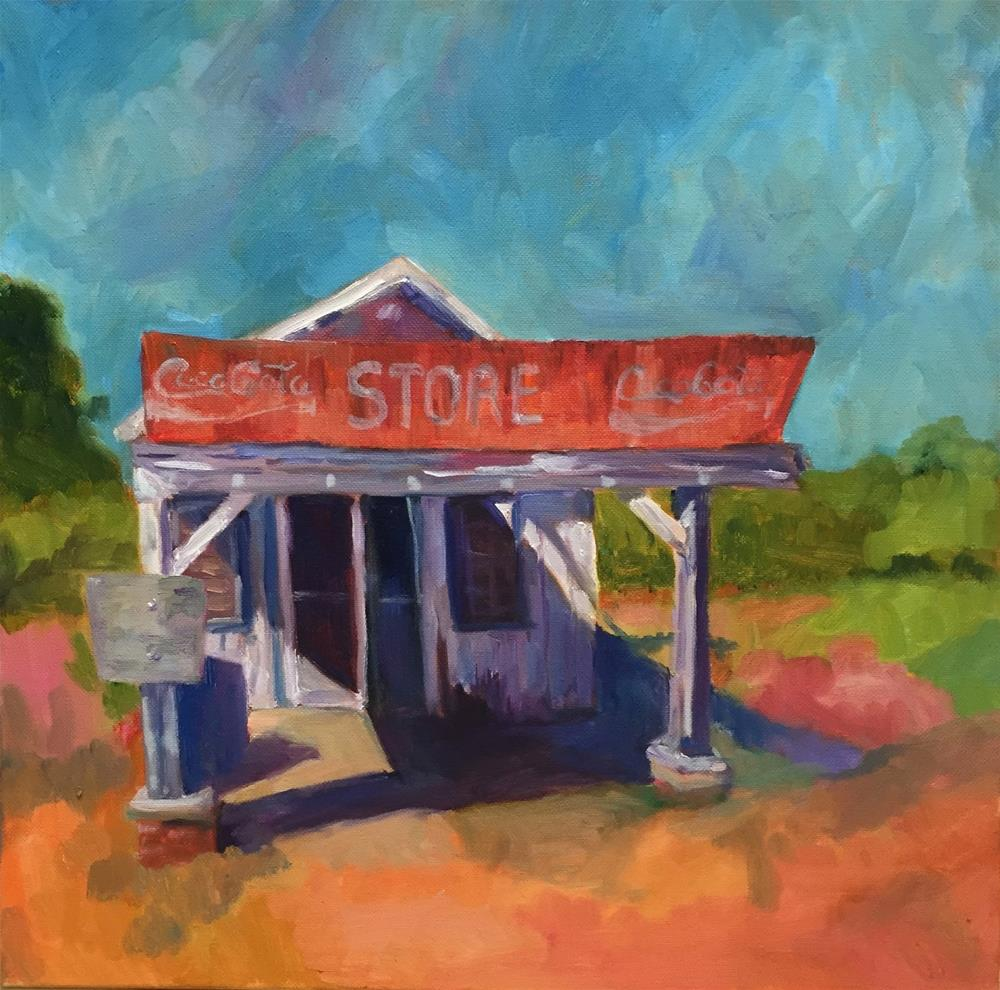 """Corner Store 12 x 12 oil"" original fine art by Ceci Lam"