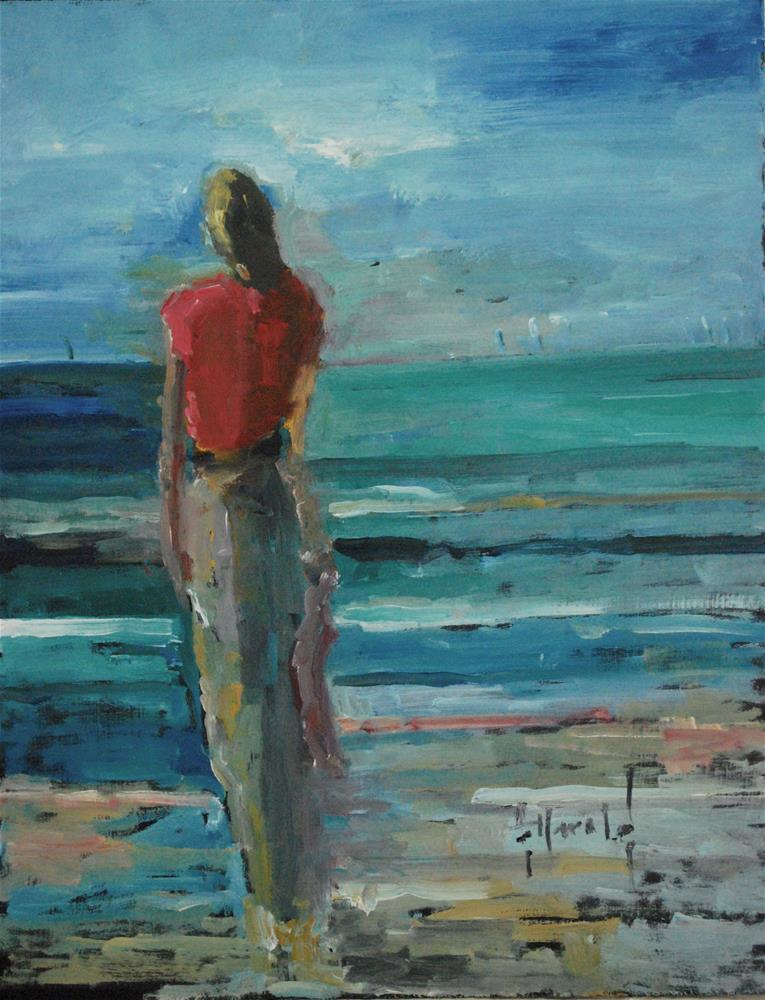 """Thinking Of You"" original fine art by Deborah Harold"