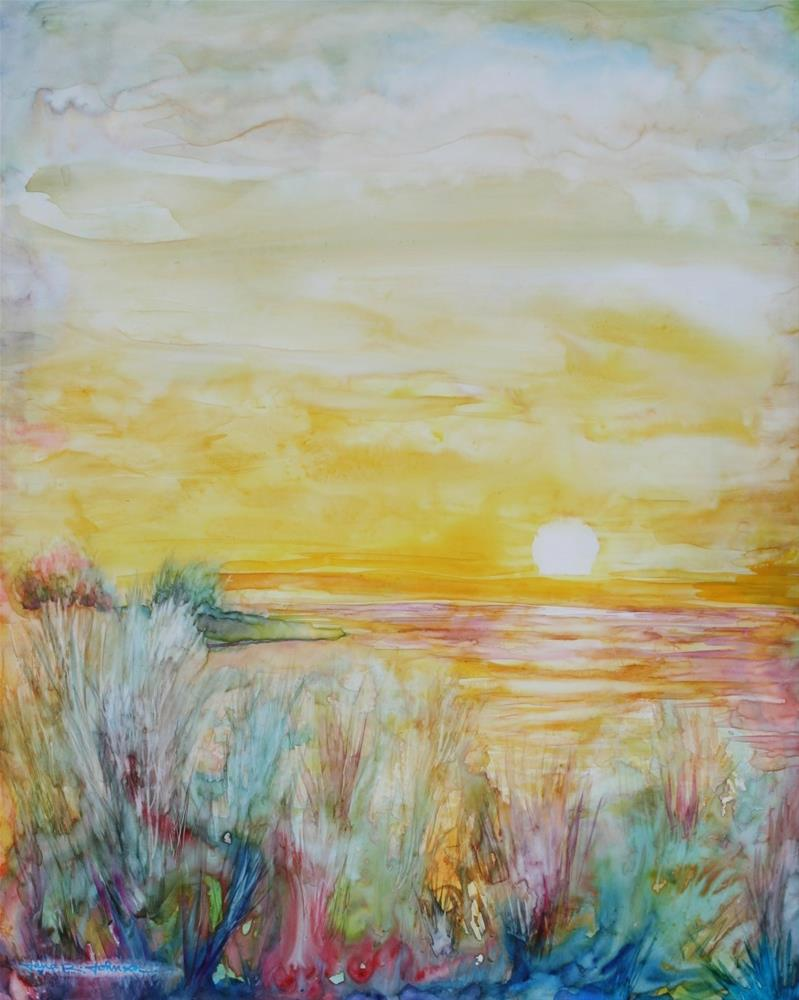 """Sublime Sunset"" original fine art by Jana Johnson"