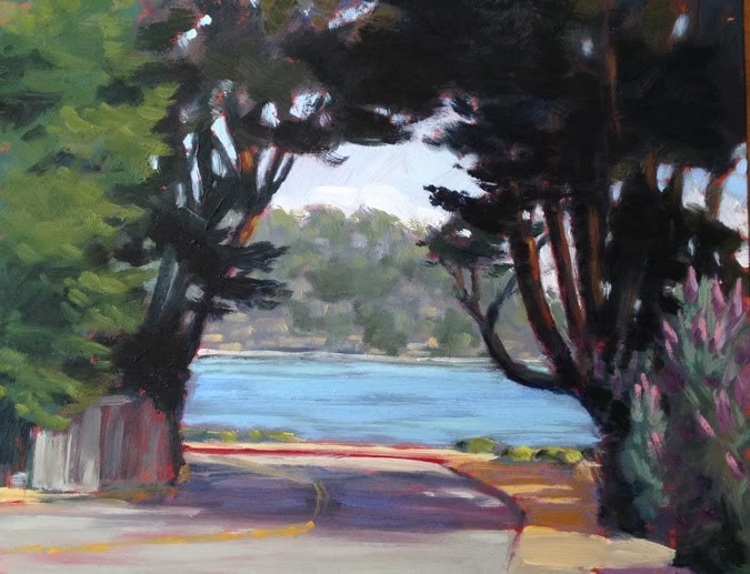 """San Rafael Avenue"" original fine art by Deborah Newman"