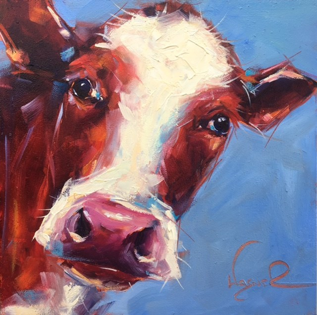 """Big Red"" original fine art by Olga Wagner"