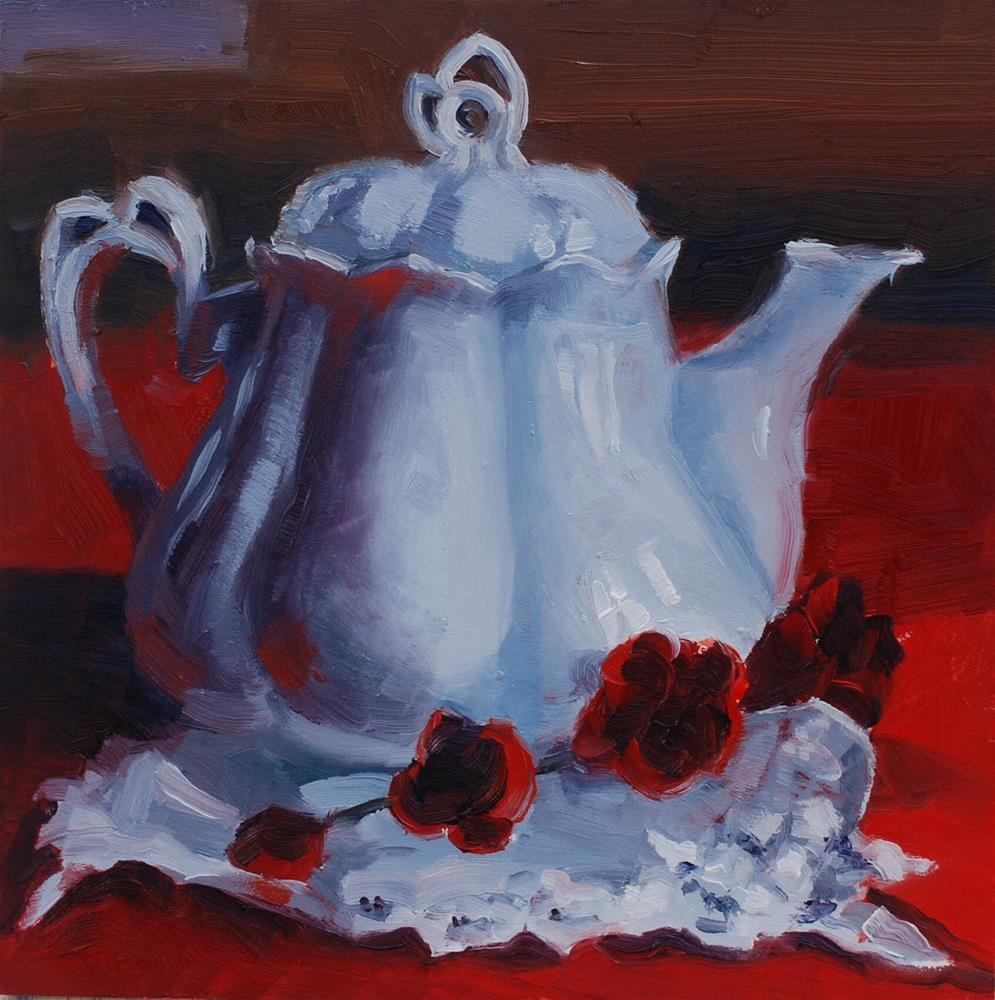 """Abendblume Teapot"" original fine art by Susan McManamen"