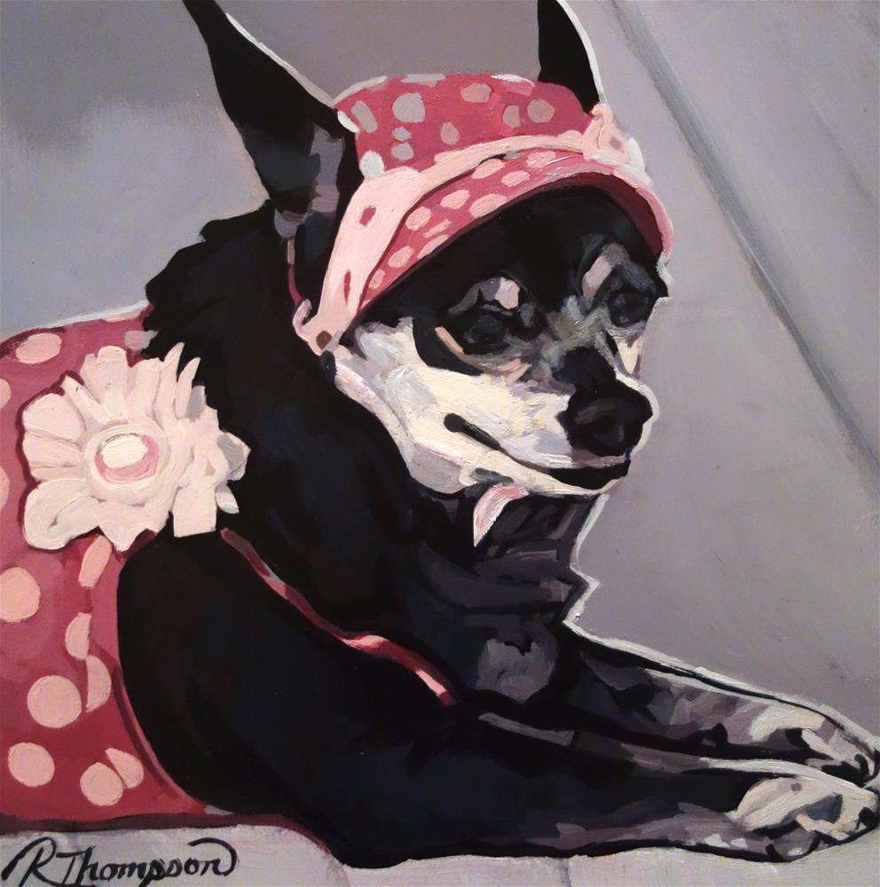 """Snooki Day 16 Reserved"" original fine art by Rachel Thompson"