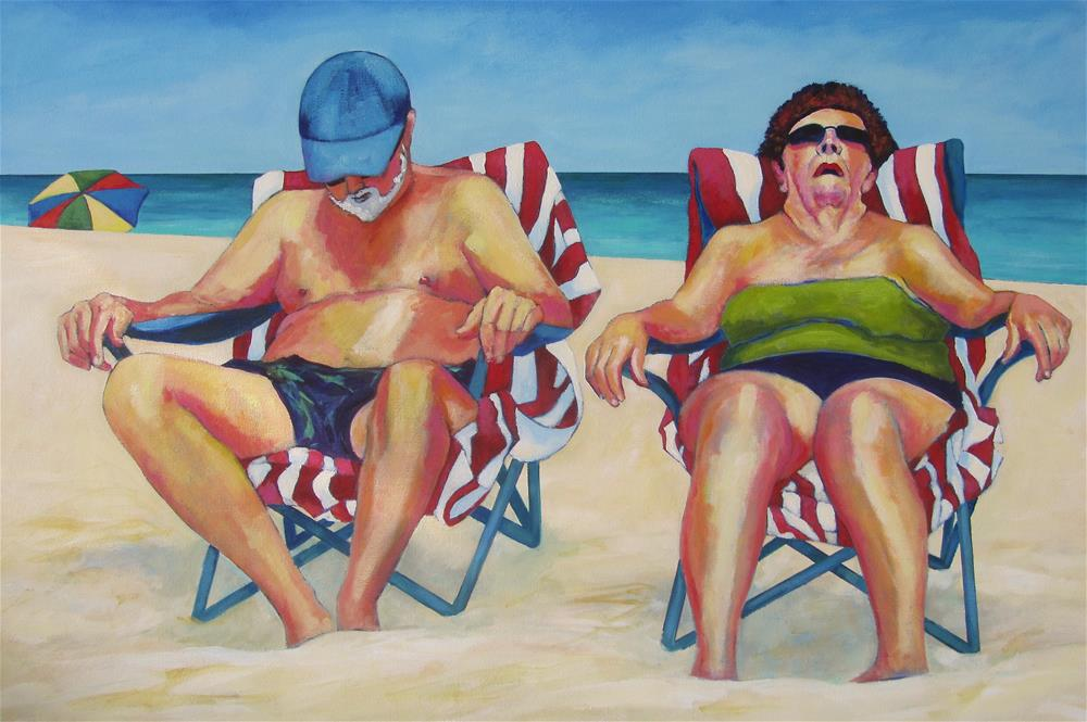 """Snoozin at the Beach"" original fine art by Patricia MacDonald"