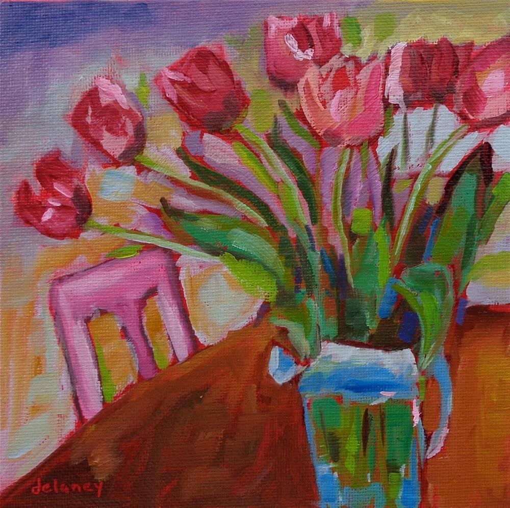 """WEDNESDAY AFTERNOON"" original fine art by Jean Delaney"