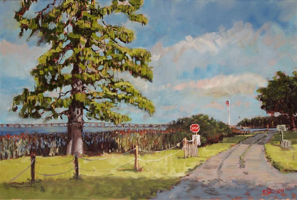 """Sound Landing Road"" original fine art by Rick Nilson"