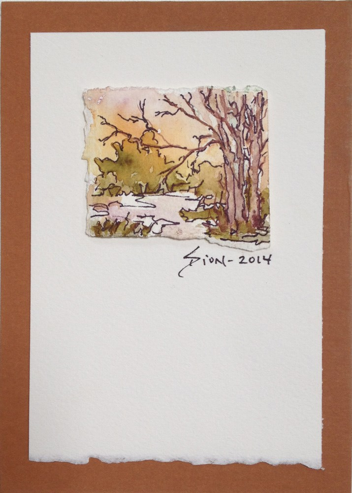"""Miniature Landscape #22"" original fine art by Sue Dion"