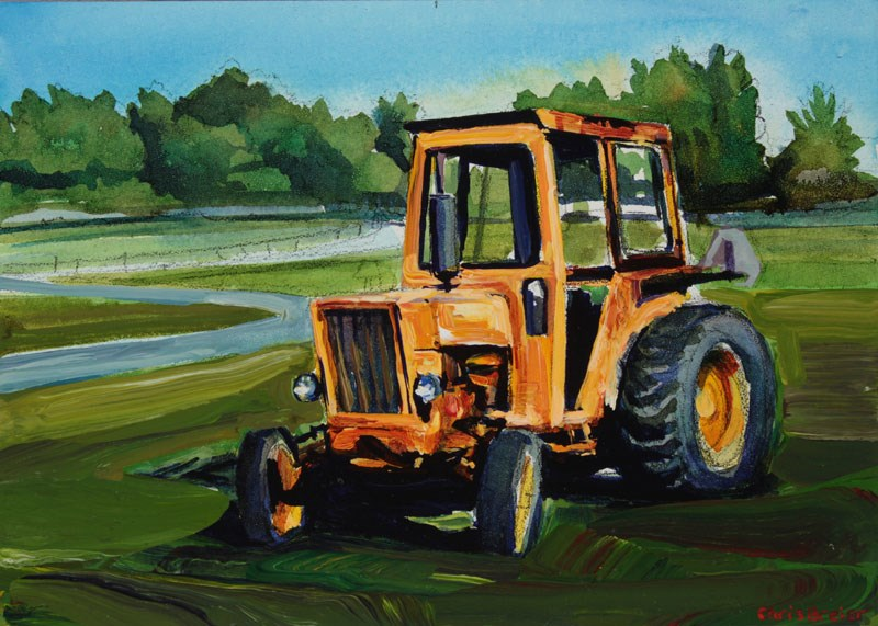 """Tractor"" original fine art by Chris Breier"