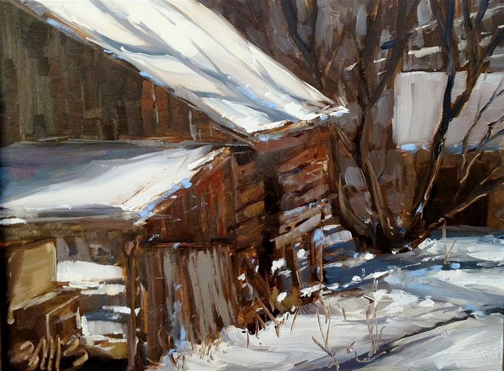 """Forgotten Barn"" original fine art by Brienne M Brown"