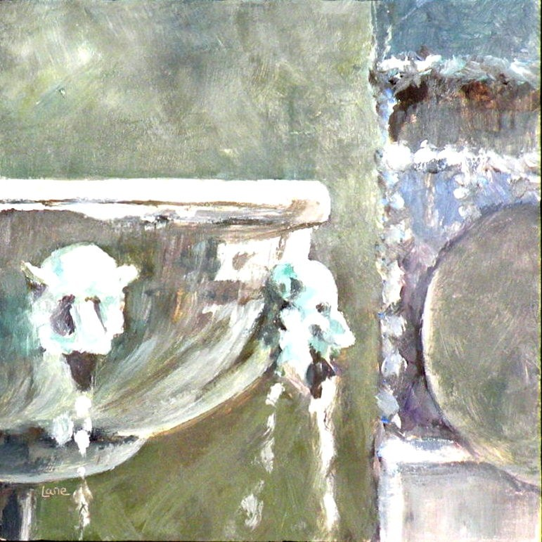 """Fountain Edge"" original fine art by Saundra Lane Galloway"