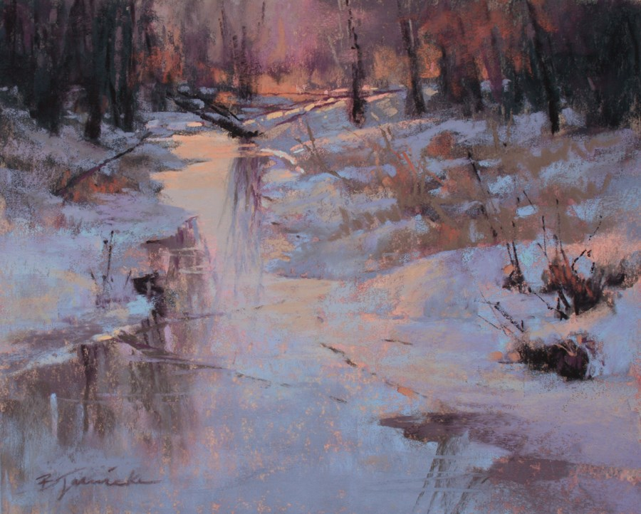 """Snow Glow"" original fine art by Barbara Jaenicke"
