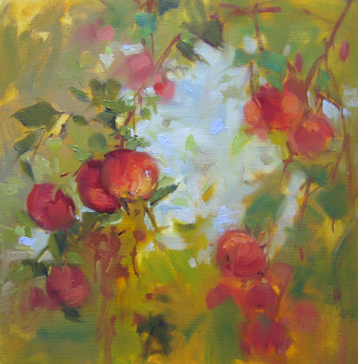 """Apple Sky"" original fine art by Mary Maxam"