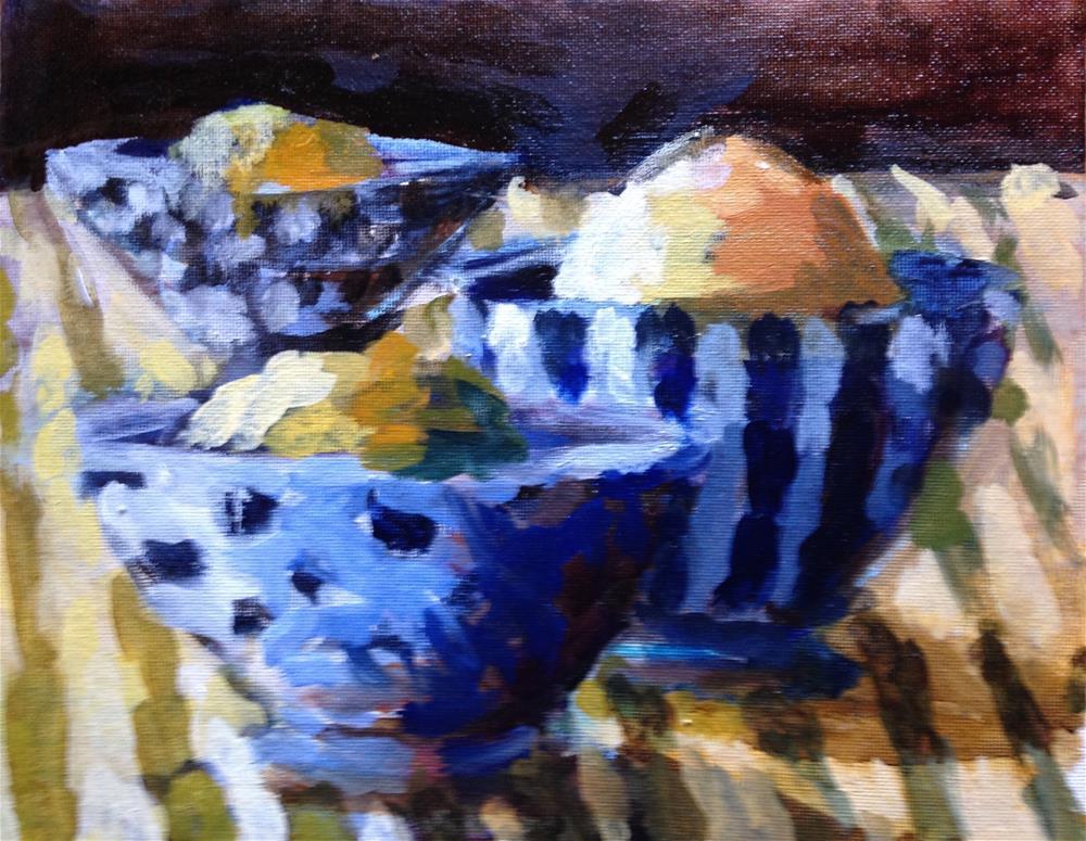 """Lemon Sorbet"" original fine art by Pamela Hoffmeister"