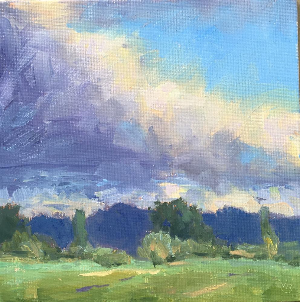 """Rain Cloud Passing Through"" original fine art by Victoria  Biedron"