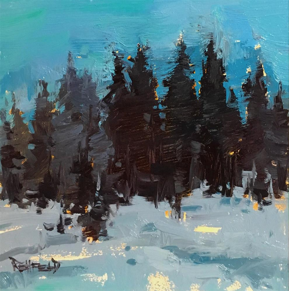 """Snow Twillight"" original fine art by Cathleen Rehfeld"