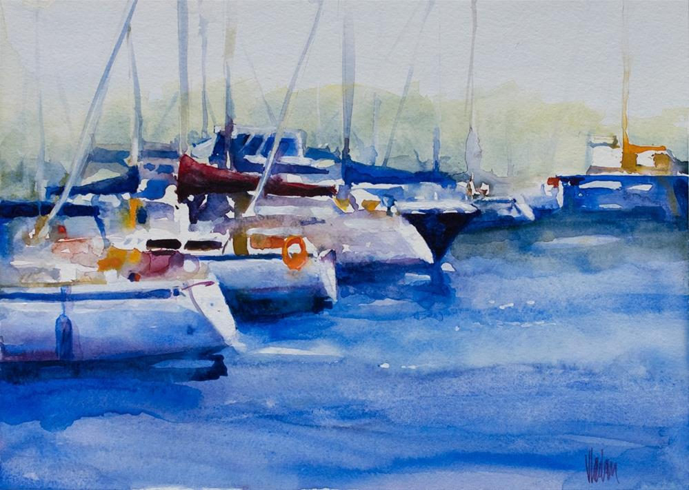"""Port Credit Marina I"" original fine art by Vladan Ignatovic"