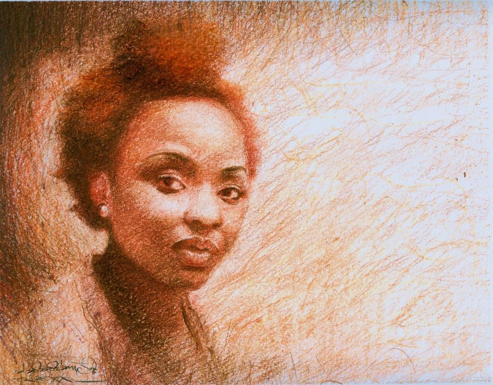 """AFRO 20"" original fine art by Adebanji Alade"