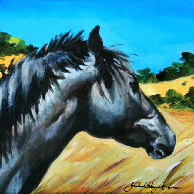"""Watching The World Go By"" original fine art by JoAnne Perez Robinson"