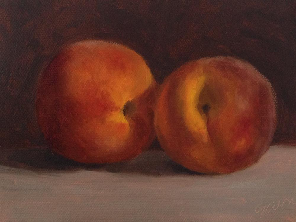 """Two Peaches"" original fine art by Michelle Garro"