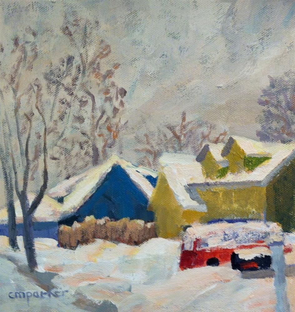 """Snow on Madison"" original fine art by Christine Parker"