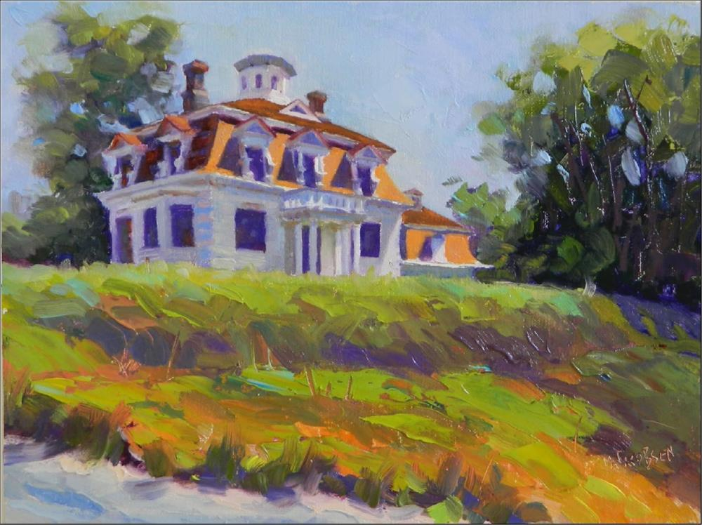 """The Whaler's House, 11x14, After Hopper exhibit, Addison Art Gallery, Orleans, MA. Cape Cod, Edwar"" original fine art by Maryanne Jacobsen"