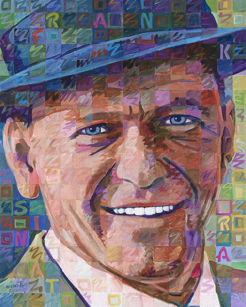 """Old Blue Eyes (Frank Sinatra)"" original fine art by Randal Huiskens"