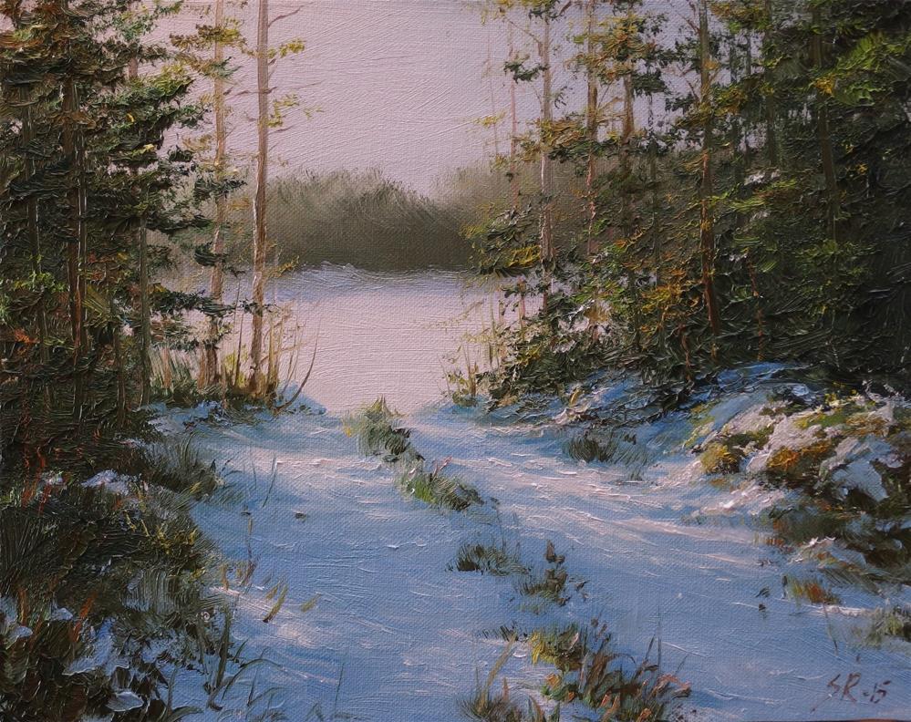 """February scene"" original fine art by Stig Rosenlund"