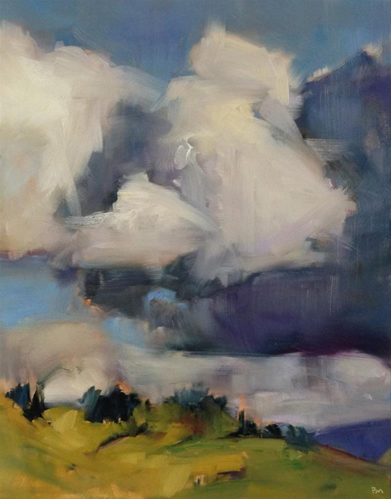 """Rubik's Cube Clouds"" original fine art by Patti McNutt"