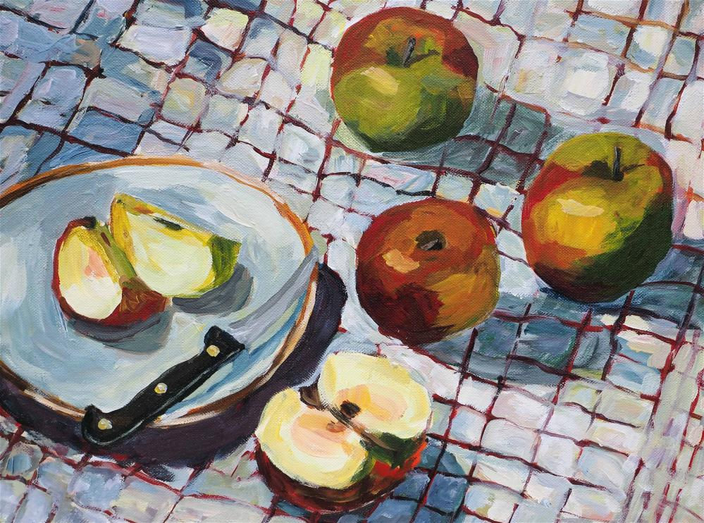 """Apples"" original fine art by Eva Grünwald"