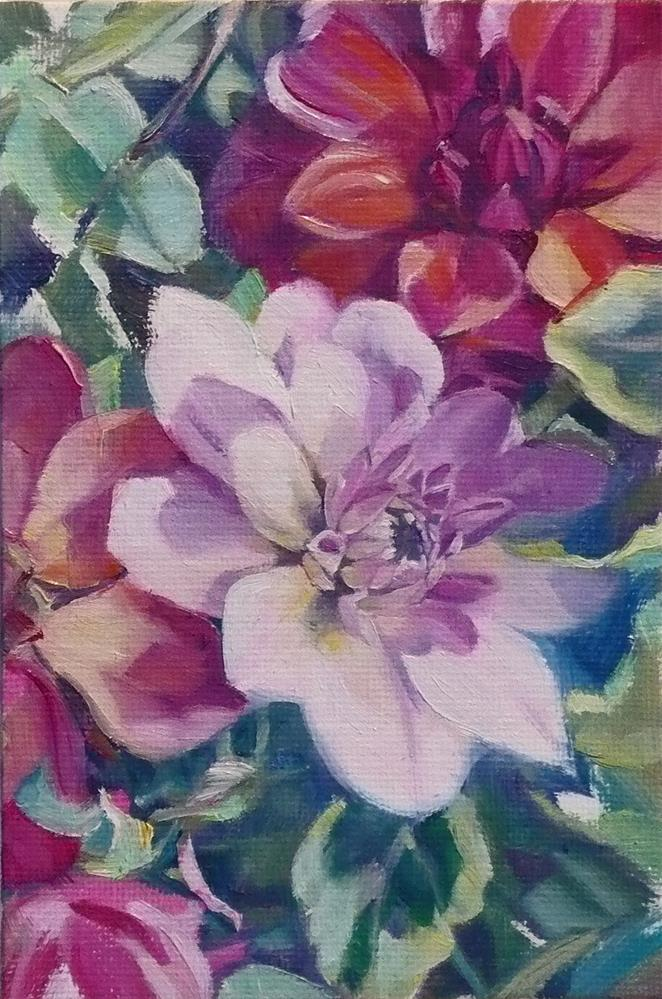 """""""Gift of the Garden"""" original fine art by Nicoletta Baumeister"""