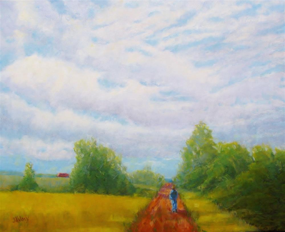"""Red Road"" original fine art by J Kelsey"