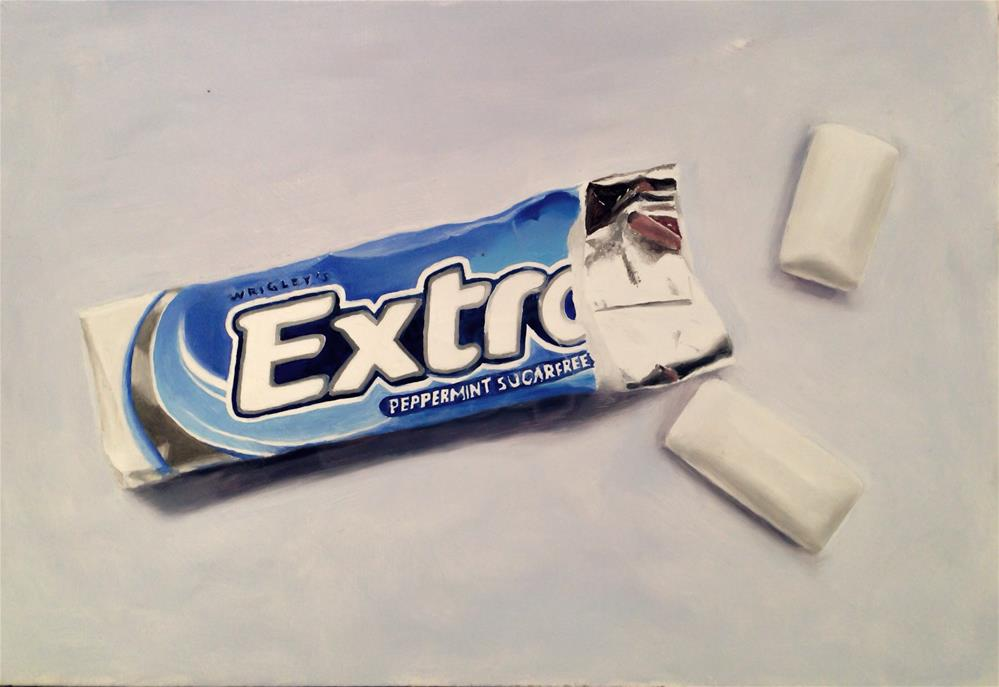 """Chewing Gum"" original fine art by James Coates"